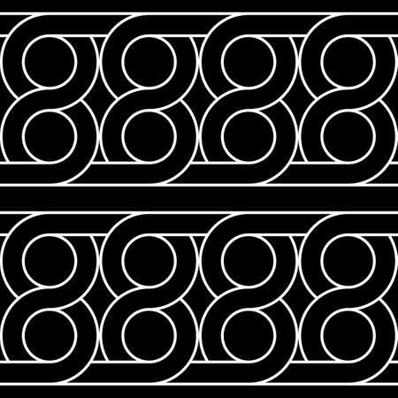 Design seamless geometric pattern. Abstract monochrome circle background. Vector art Ilustrace