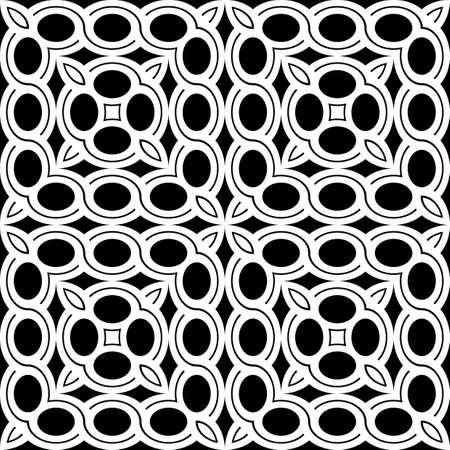Design seamless geometric pattern. Abstract monochrome ellipse background. Vector art
