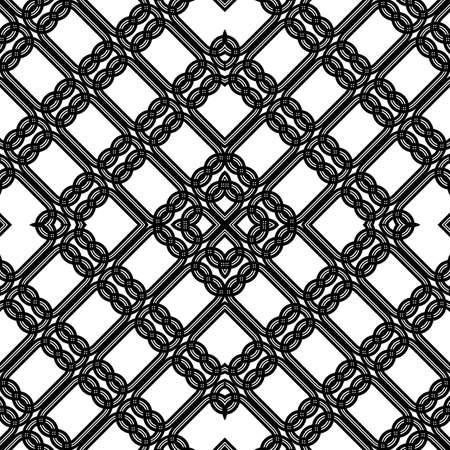 Design seamless geometric pattern. Abstract monochrome lacy background. Vector art