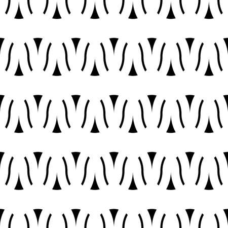 Design seamless monochrome zigzag pattern. Abstract interlaced background. Vector art Ilustrace