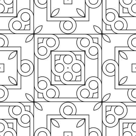 Design seamless geometric pattern. Abstract monochrome grating decorative background. Vector art Ilustrace