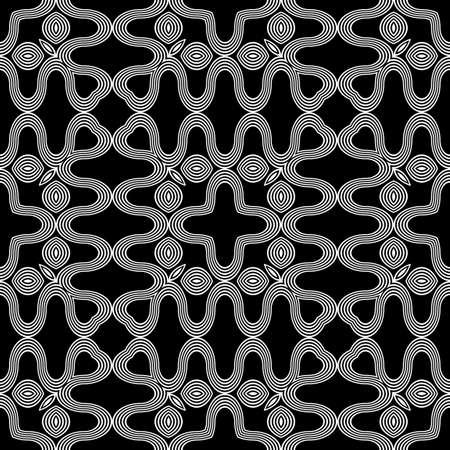 Design seamless monochrome waving pattern. Abstract decorative background. Vector art Ilustrace