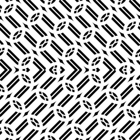 Design seamless monochrome grid pattern. Abstract zigzag background. Vector art Ilustrace