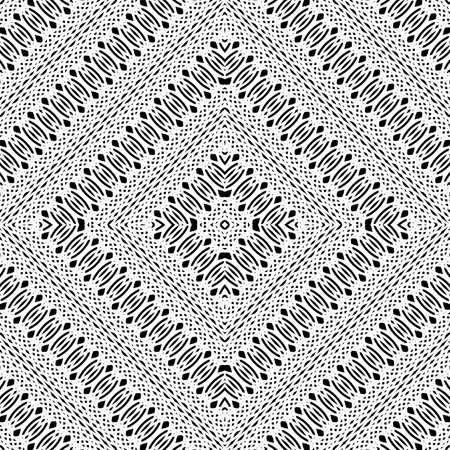 Design seamless monochrome diamond pattern. Abstract stripy background. Vector art Ilustrace