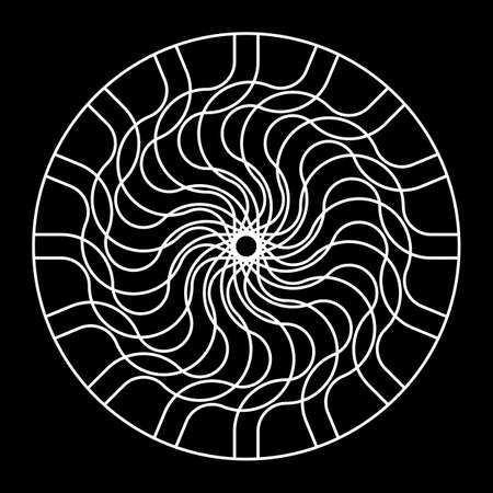 Design monochrome decorative circle element. Abstract backdrop. Vector-art illustration 일러스트