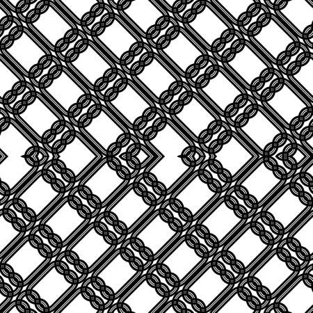 Design seamless zigzag pattern. Abstract monochrome lacy background. Vector art Banque d'images - 138377708