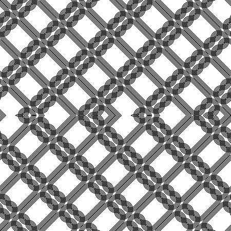 Design seamless zigzag pattern. Abstract monochrome lacy background. Vector art Banque d'images - 138377740