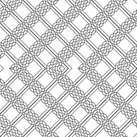 Design seamless zigzag pattern. Abstract monochrome lacy background. Vector art Banque d'images - 138377854
