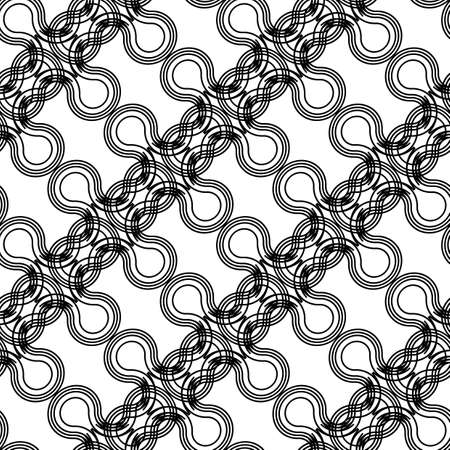 Design seamless monochrome decorative braid pattern. Abstract interlaced background. Vector art Banque d'images - 138377833