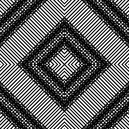 Design seamless geometric pattern. Abstract monochrome lacy background. Vector art Banque d'images - 138378178