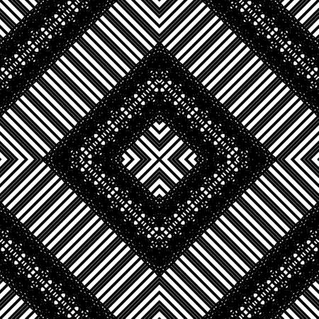 Design seamless geometric pattern. Abstract monochrome lacy background. Vector art Banque d'images - 138378183