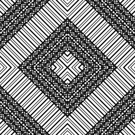 Design seamless geometric pattern. Abstract monochrome lacy background. Vector art Banque d'images - 138378231