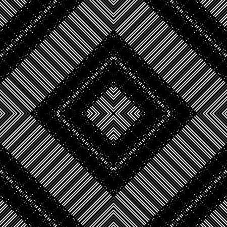 Design seamless geometric pattern. Abstract monochrome stripy background. Vector art Ilustração