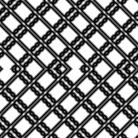 Design seamless zigzag pattern. Abstract monochrome lacy background. Vector art Ilustração
