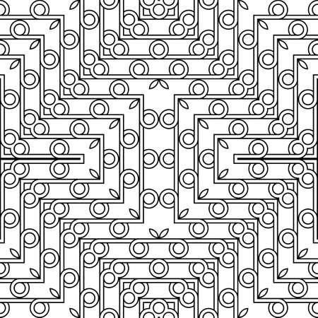Design seamless geometric pattern. Abstract monochrome grating decorative background. Vector art Ilustração