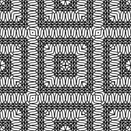 Design seamless monochrome grating pattern. Abstract lacy background. Vector art
