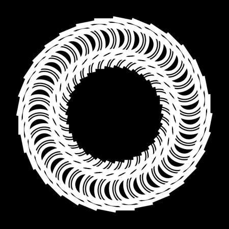 Design monochrome decorative circle element. Abstract backdrop. Vector-art illustration Иллюстрация