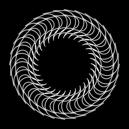 Design monochrome decorative circle element. Abstract backdrop. Vector-art illustration 免版税图像 - 141170225