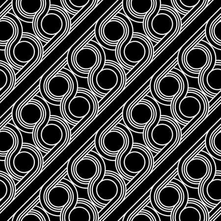 Design seamless geometric pattern. Abstract monochrome circle background. Vector art