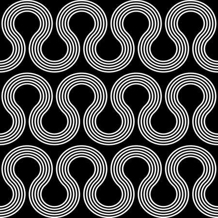 Design seamless waving pattern. Abstract monochrome stripy background. Vector art