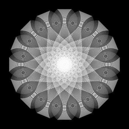 Design monochrome decorative circle element. Abstract backdrop. Vector-art illustration. No gradient Ilustrace