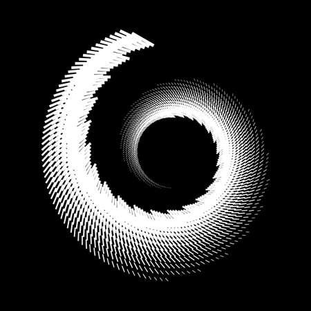 Design spiral doodled backdrop. Abstract monochrome background. Vector-art illustration. No gradient