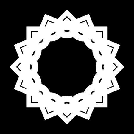 Design monochrome circle element. Abstract backdrop. Vector-art illustration