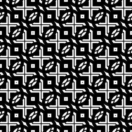 Design seamless grating pattern. Abstract monochrome lacy background. Vector art  イラスト・ベクター素材
