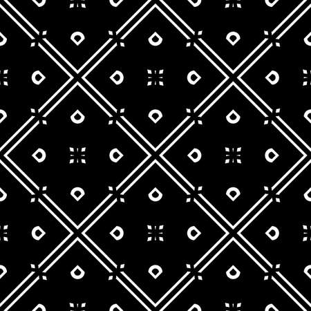 Design seamless geometric pattern. Abstract monochrome grating background. Vector art