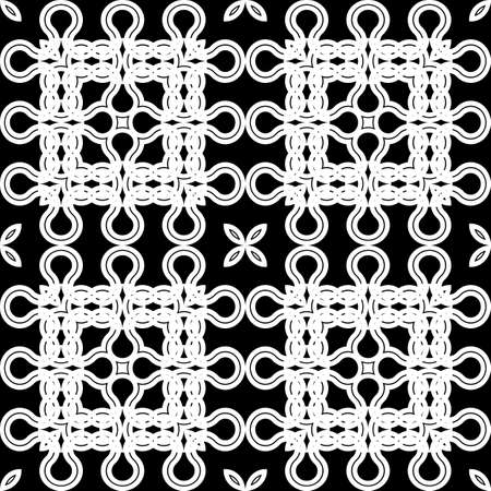 Design seamless geometric pattern. Abstract monochrome lacy background.