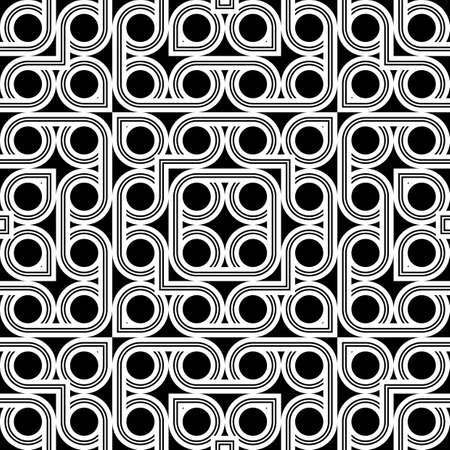 Design seamless geometric pattern. Abstract monochrome circle background.