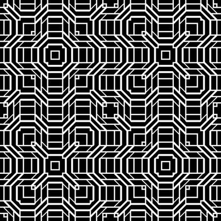 Design seamless monochrome geometric pattern. Abstract grating background.
