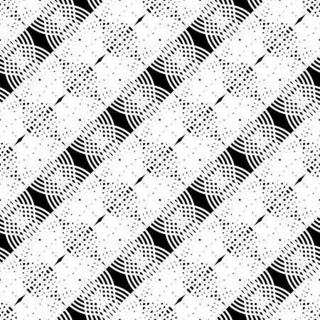 Design seamless monochrome grating pattern. Abstract interlaced background. Illustration