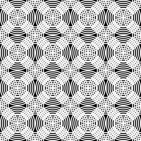 Design seamless grating pattern. Abstract monochrome interlaced background.