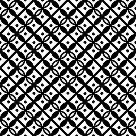 Design seamless geometric pattern. Abstract monochrome grating background. Vector art Vektorové ilustrace