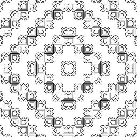 Design seamless monochrome pattern. Abstract diamond background. Vector art