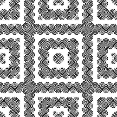 Design seamless monochrome grating decorative pattern. Abstract diamond background. Vector art