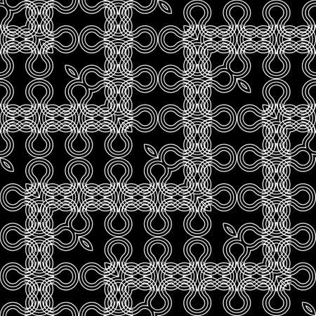 Design seamless zigzag pattern. Abstract monochrome lacy background. Vector art Ilustracja