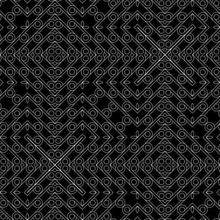 Design seamless geometric pattern. Abstract monochrome grating decorative background. Vector art Ilustracja