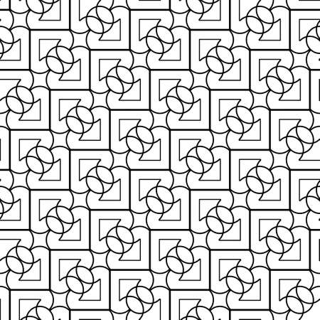 Design seamless grating pattern. Abstract monochrome geometric background. Vector art