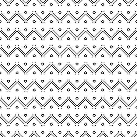 Design seamless zigzag pattern. Abstract monochrome background. Ilustracja