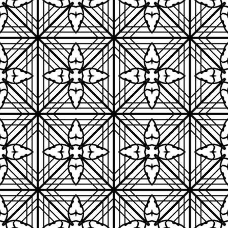 Design seamless monochrome grating pattern. Abstract decorative background. Ilustracja