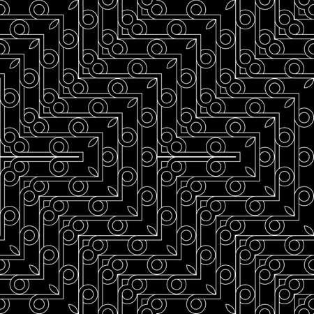 Design seamless geometric zigzag pattern. Abstract monochrome grating decorative background.