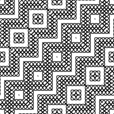 Design seamless monochrome zigzag decorative pattern. Abstract diamond background.