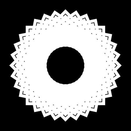 Design monochrome circle element. Abstract backdrop.