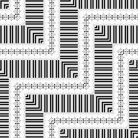 Design seamless zigzag pattern. Abstract monochrome lacy background. Ilustracja