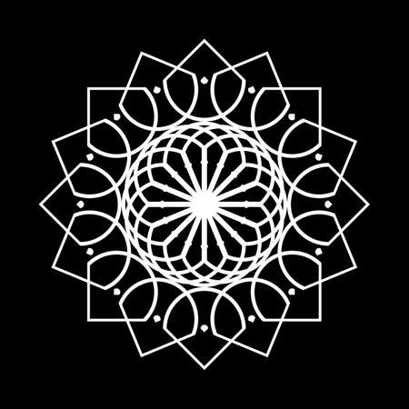 Design monochrome decorative element. Abstract circle backdrop. Vector-art illustration Ilustracja
