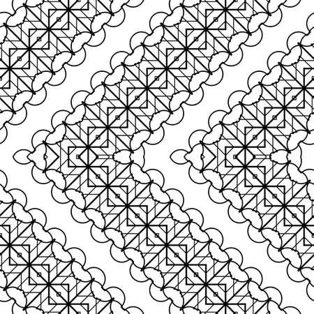 Design seamless zigzag decorative pattern. Abstract monochrome grating background. Vector art Vector Illustration