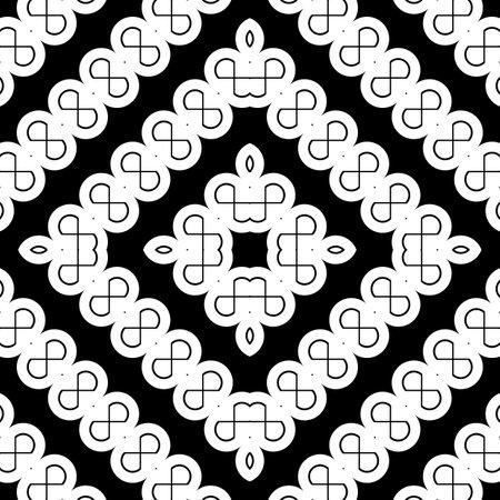 Design seamless monochrome zigzag decorative pattern. Abstract diamond background. Vector art