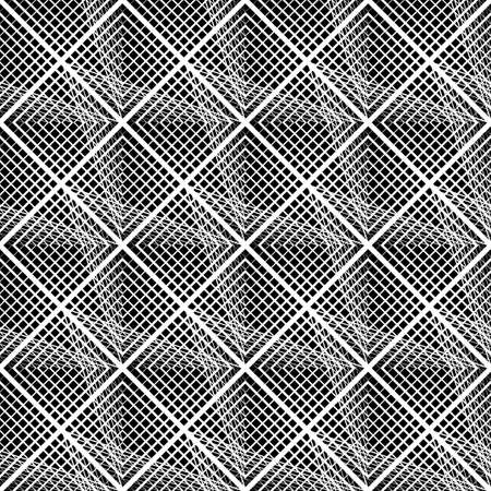 Design seamless grating pattern. Abstract monochrome lacy background. Vector art Ilustracja